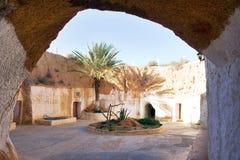 Een oude woning in Matmata royalty-vrije stock fotografie