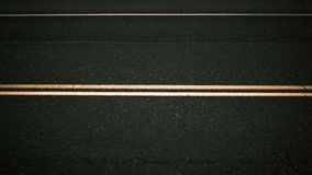 Een overschotmening van straatlijnen op de weg royalty-vrije stock foto