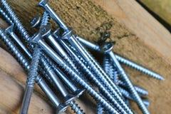 Steel Schroeven. Royalty-vrije Stock Afbeeldingen