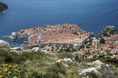 Een overzicht van de de oude stad en haven van Dubrovnik Royalty-vrije Stock Afbeeldingen