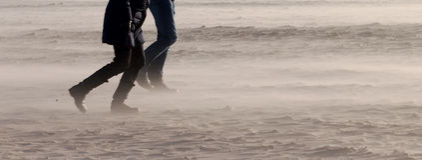 Het onweersbenen van het strand Stock Afbeelding