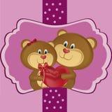 Een paar beren Stock Illustratie