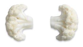 Een paar bloemkooloren dat met weg wordt geïsoleerde Stock Afbeelding