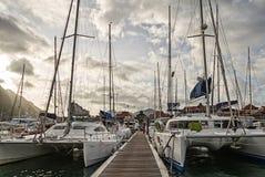 Een paar boten bij de ligplaats van Eden-eiland Royalty-vrije Stock Afbeelding