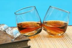 Een paar brandys in openlucht Royalty-vrije Stock Foto's