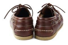 Een paar bruine schoenen stock afbeeldingen