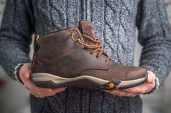 Een paar bruine schoenen Stock Foto