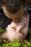 Een paar in liefde Stock Foto