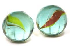 Een paar Marmer van het Glas Stock Fotografie