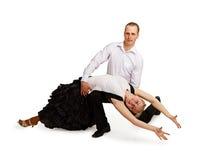 Een paar professionele dansers Stock Fotografie