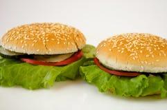 Een paar sandwiches Royalty-vrije Stock Foto