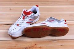 Een paar schoenen aan boord Royalty-vrije Stock Afbeelding