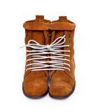 Een paar schoenen bond één kabeljauwlijn. Symbool van emotie Royalty-vrije Stock Afbeeldingen