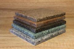 Een paar steekproeven van acryl kunstmatige steen Royalty-vrije Stock Afbeeldingen