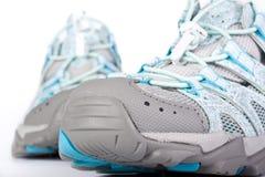 Een paar van het aanstoten van schoenen Stock Foto