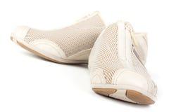 Een paar van het aanstoten van schoenen Stock Afbeeldingen