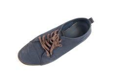 Een paar van het lopen van blauwe tennisschoenen Royalty-vrije Stock Foto's