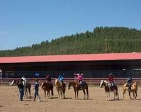 Een paardgebeurtenis voor kinderen bij pagosa springt op Royalty-vrije Stock Afbeelding