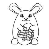 Een Paashaaskonijn met paasei vector illustratie