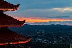 Een pagode in Lezing, Pennsylvania Royalty-vrije Stock Foto