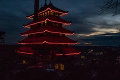 Een pagode in Lezing, Pennsylvania royalty-vrije stock foto's