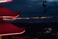 Een pagode in Lezing, Pennsylvania royalty-vrije stock afbeeldingen