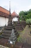 Een pagode in tempel van Thailand Stock Foto
