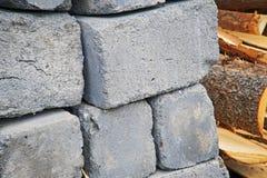 Een Pallet van Cinder Blocks royalty-vrije stock foto's