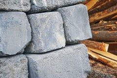 Een Pallet van Cinder Blocks stock foto