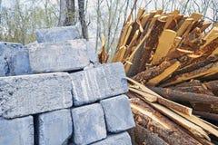 Een Pallet van Cinder Blocks stock foto's