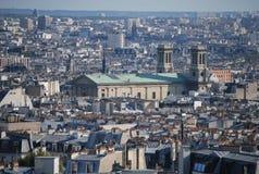 Een panorama op Parijs, Frankrijk royalty-vrije stock foto's