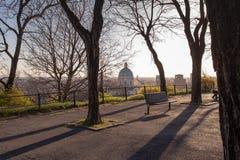 Een panorama van Brescia van het terras van het Kasteelpark, het Gebied van Lombardije, Italië royalty-vrije stock afbeeldingen