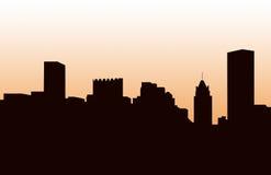 Een panorama van de horizon van Baltimore stock afbeelding