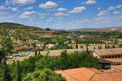 Een panorama van de stad van Toledo, Spanje Royalty-vrije Stock Foto's