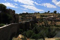 Een panorama van de stad van Toledo, Spanje Stock Afbeeldingen