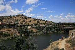 Een panorama van de stad van Toledo, Spanje Royalty-vrije Stock Fotografie