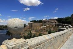 Een panorama van de stad van Toledo, Spanje Royalty-vrije Stock Afbeeldingen