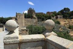 Een panorama van de stad van Toledo, Spanje Stock Foto