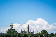 Een panorama van de stadscentrum van Wenen Royalty-vrije Stock Afbeelding