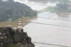 Een panorama van Hang Mua, Ninh Binh, Vietnam royalty-vrije stock foto