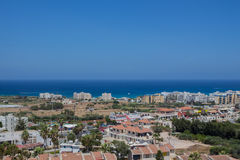 Een panorama van Protaras, Cyprus Stock Afbeeldingen