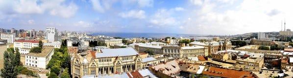 Een panoramikbeeld van de stad van Baku Royalty-vrije Stock Afbeelding