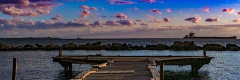 Een panoramisch schot van Taranto royalty-vrije stock fotografie
