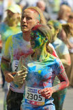 Een parade van kleuren van holi in Kiev Royalty-vrije Stock Afbeeldingen
