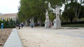 Een park in Madrid stock videobeelden