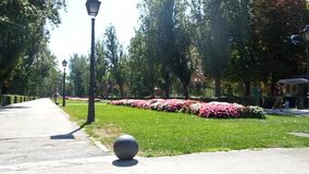 Een park in Madrid stock video