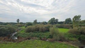Een park in recent September Stock Foto