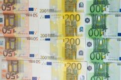 Een partij van eurocontant geld Stock Fotografie