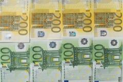 Een partij van eurocontant geld Stock Foto's