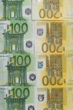 Een partij van eurocontant geld Royalty-vrije Stock Foto's